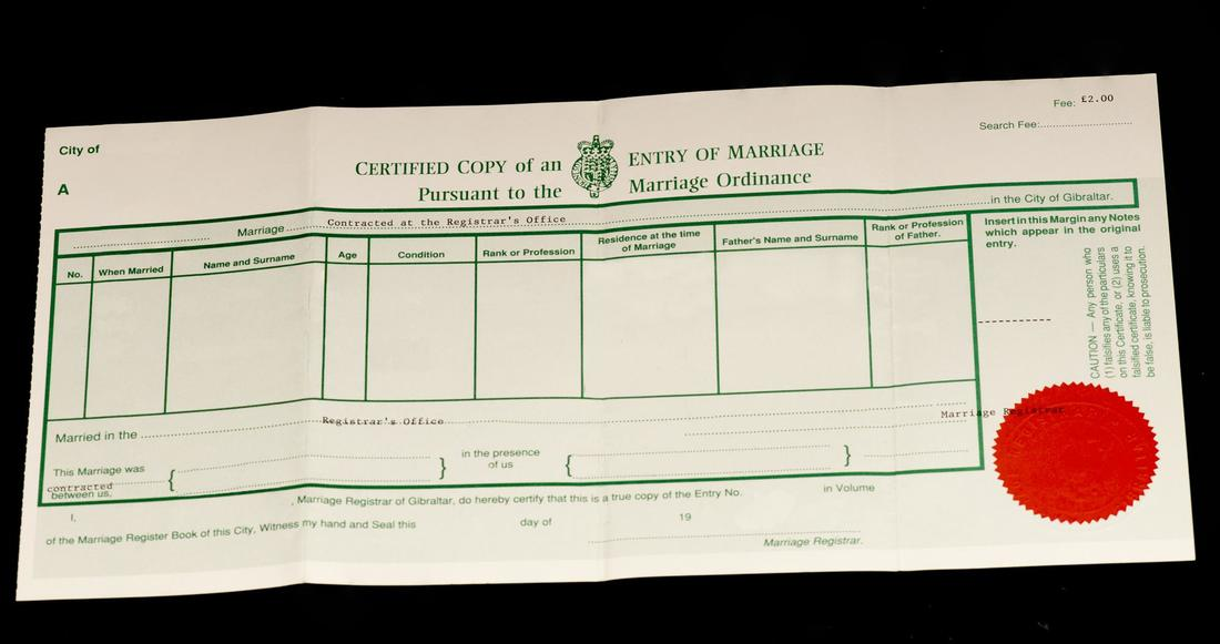 Get a Copy of Your Marriage Certificate